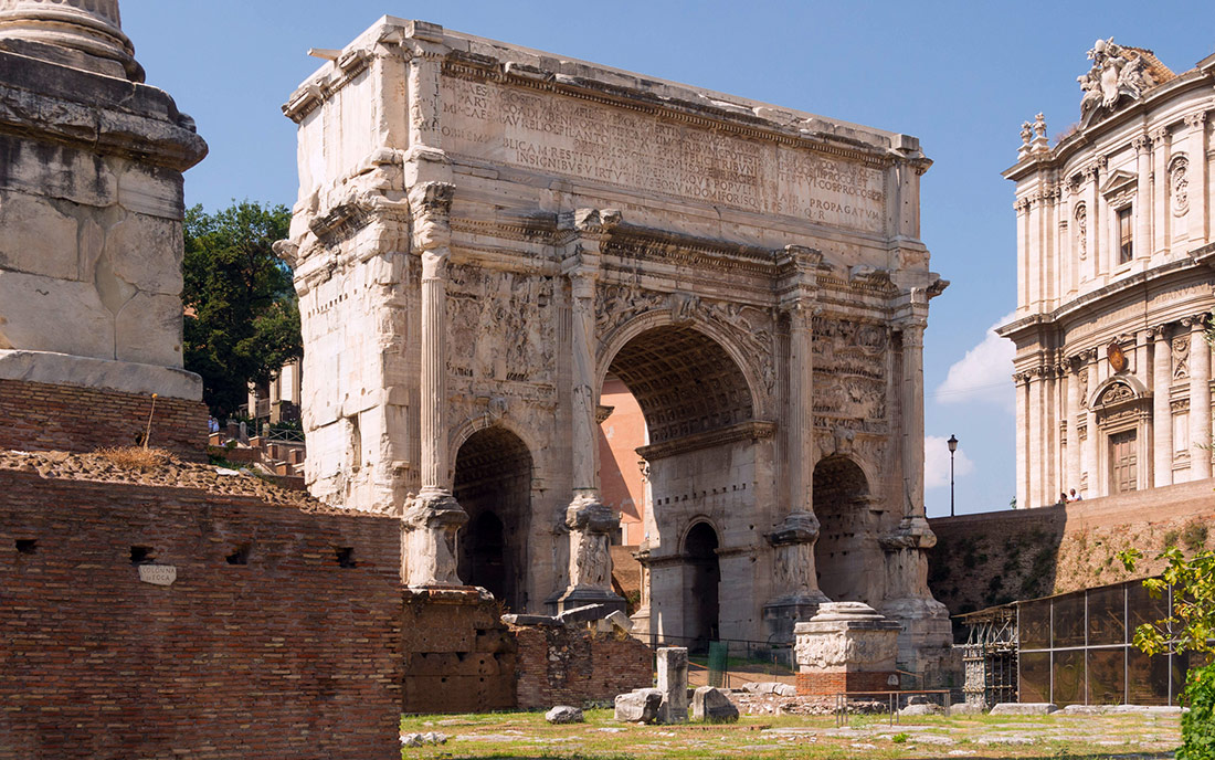 a report on the arch of septimius severus in rome